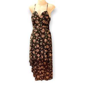 High low floral black dress 📏measurements in pics